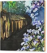 Old House And New Flowers Wood Print