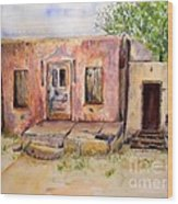 Old House In Clovis Nm Wood Print
