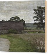 Old House In Culloden Battlefield Wood Print