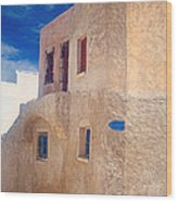 Old House In Oia  Wood Print