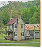 Old House In Penrose Nc Wood Print