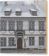 Old House In Riga Wood Print