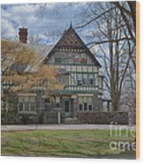 Old House On Haverford Campus Wood Print