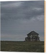 Old House On The Prairie Wood Print