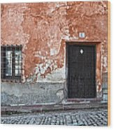 Old House Over Cobbled Ground Wood Print by RicardMN Photography