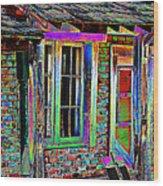 Old House Pop Art Wood Print