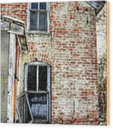Old House Two Windows 13104 Wood Print