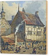 Old Houses And St Olaves Church Wood Print