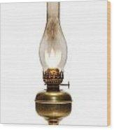 Old Hurricane Lamp Wood Print