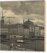 Old In Memory But Modern Copenhagen Wood Print