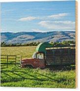 Old International Livestock Truck Wood Print