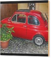 Old Italian Car Fiat 500  Wood Print