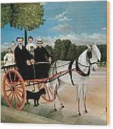 Old Junier's Cart Wood Print by Henri Rousseau