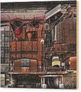 Old Kansas City Factory Building  Wood Print