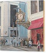 Old Kaufmann's Clock Wood Print