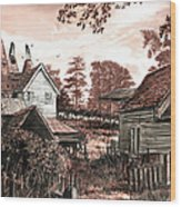 Old Kentish Oasts Wood Print