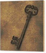 Old Key Wood Print