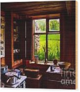Old Kitchen Window Wood Print