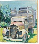 Old Kula Truck Wood Print