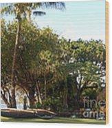 Old Lahaina Luau Wood Print