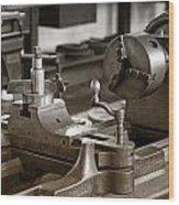 Old Lathe Wood Print