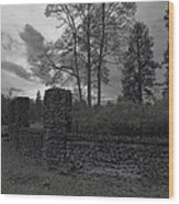 Old Liberty Park Ruins In Spokane Washington Wood Print