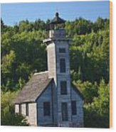 Old Lighthouse Wood Print by Brett Geyer