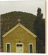 Old Lincoln City Church Wood Print