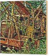 Old Logger-hdr Wood Print