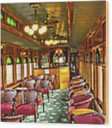 Old Lounge Car From Early Railroading Days Wood Print