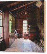 Old Machinery Wood Print