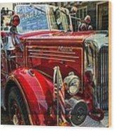 Old Mack Firetruck Wood Print