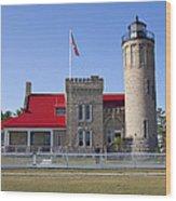 Old Mackinac Mi Lighthouse 19 Wood Print