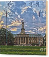 Old Main At Sunset Wood Print