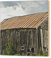 Old Maine Barn Wood Print