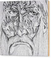 Old Man Wood Print