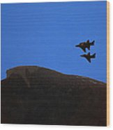 Old Man Of The Mountain Flyover Wood Print