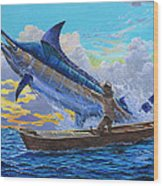 Old Man And The Sea Off00133 Wood Print