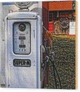 Old Marathon Gas Pump Wood Print