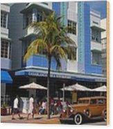 Old Miami Wood Print