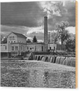 Old Mill And Banquet Hall Wood Print