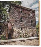 Old Mill At Forbidden Caverns Wood Print