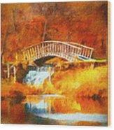 Old Mill Bridge Wood Print