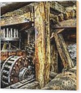 Old Mill Cogs Wood Print