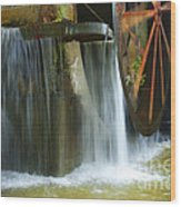 Old Mill Water Wheel Wood Print