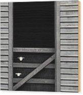 Old Mill Window Wood Print