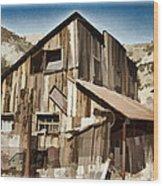 Old Mine Shack Wood Print