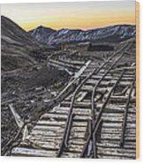 Old Mining Tracks Wood Print