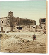 Old Mission Church At Acoma Wood Print