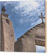 Old Mission Crosses Wood Print